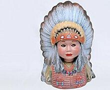Ceramic Center Garten Statue handbemalt für