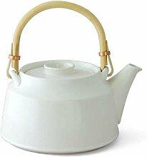 ceramic japan Japanische Teekanne, weiß T.Kato,