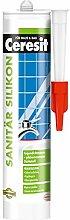 Ceresit Sanitär Silikon Farbton 300 ml, grau, CP4GR