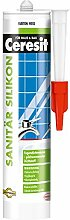 Ceresit Sanitär Silikon Farbton 300 ml, weiß, CP4WS