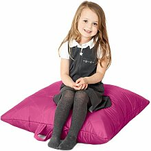 Cerise Pink, gesteppte, wasserabweisende groß Slab Sitzsack