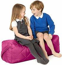 Cerise Pink, gesteppte, wasserabweisende rechteckig Sitzsack