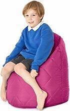 Cerise Pink, gesteppte, wasserabweisende Sitzsack