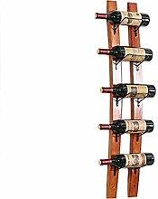 CESULIS Weinregal aus Holz Wand-Weinglashalter