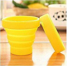 CFDYKRP Tragbare Massivfarbe Wasser Silikon Tassen