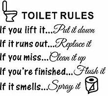 CFLEGEND Toilettenregeln 25X29Cm Wandaufkleber