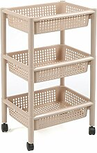 CFstc Kitchen Storage Trolleys Slide Out Storage Tower Bewegliche abnehmbare Regal mit Rädern 3 Tier für Küche Badezimmer Wohnzimmer ( Farbe : C )