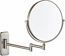 CFWAN Kupfer Kosmetik Kreativität Bad Doppel Gefaltet Toilettenartikel Kosmetik Wand Spiegel 6 Zoll,C