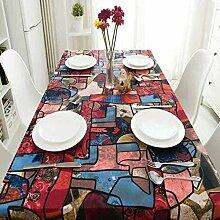 CFWL Baumwolle Leinen Kunst ethnische Tischdecke