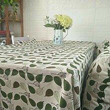 CFWL GrüNe Pflanze Baumwolle Leinen Tischdecke