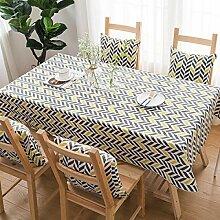 CFWL Tischdecke aus Baumwolle und Leinen im