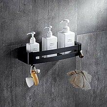 cfxdxayd Schwarz Dusche Caddy Badezimmer Rechteck
