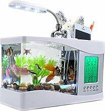 CFZHANG Fischbehälter Luftbefeuchter Wasser Wasser Tisch Lampe Hochzeit Geschenk Dekorationen Desktop-Ornamente senden Studenten , (white)