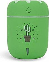 CFZHANG Mini Luftbefeuchter USB Aroma Air Spray Mute Büro Desktop mit bunten Nachtlicht Home Auto Schlafzimmer Schlafzimmer Kind Geschenk , green