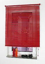 cg-sonnenschutz PVC-Jalousie rot (2 Stück 100 x