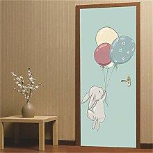 CGDGRA Türtapete Türposter Selbstklebend Cartoon