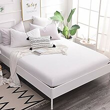 CGDX 160x200 Baumwolle Spannbetttuch Bettlaken mit