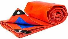 CGF-210209 Orange + Blau Plane gepolsterte Sun Shield Regenschutz Staubdicht Isolierung Sonnenschutz Regen Tuch, Dicke 0,35 mm, 180 g/m2, 12 Größenoptionen (größe : 6*10)