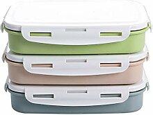 CGGDP Bento-Brotdose mit 4 Fächern, quadratischer