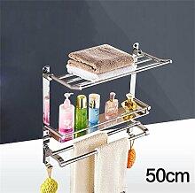 CH 304 Edelstahl-Badezimmer Handtuchwärmer Regalwand zwischen Bad Dusche Badezimmerzubehör Badezimmer Handtuchhalter ( farbe : 7# )