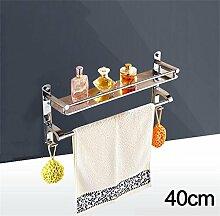 CH 304 Edelstahl-Badezimmer Handtuchwärmer Regalwand zwischen Bad Dusche Badezimmerzubehör Badezimmer Handtuchhalter ( farbe : 1# )