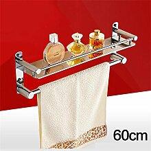 CH 304 Edelstahl-Badezimmer Handtuchwärmer Regalwand zwischen Bad Dusche Badezimmerzubehör Badezimmer Handtuchhalter ( farbe : 10# )