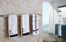 CH 304 Edelstahl Handtuchhalter Handtuchwärmer Einzel Rod Verlängerte Badezimmer Handtuchhalter Punch Kupferbasis Badezimmer Handtuchhalter ( größe : 83CM )