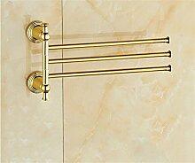 CH Aktivitäten Handtuchhalter voller Kupfer Handtuchhalter aktiv Hebel verhakt mehr Goldbarren Handtuchhalter aktiv Hebel Badezimmer Handtuchhalter ( farbe : A2 )