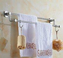 CH All-Kupfer-Doppelhandtuchhalter, Handtuchhalter, Hardware Badezimmer Handtuchhalter Badezimmer Handtuchhalter ( größe : 90cm )