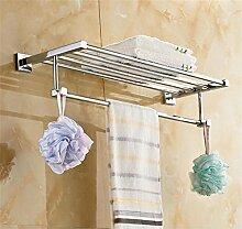 CH Alle Kupfer Bad Handtuchhalter Handtuchhalter Metall Anhänger Pflegeprodukte im Badezimmer Regale Badezimmer Handtuchhalter ( größe : 80cm )