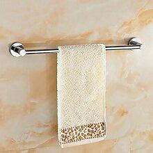 CH Alle Kupfer-Dickhandtuchhalter Einzel Handtuch hängen Bad-Accessoires Badezimmer Regal 60cm Badezimmer Handtuchhalter ( farbe : 1# )
