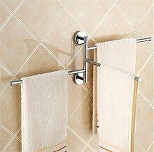 CH Alle Kupfer Rotating Handtuchhalter, Bad Handtuchstange hängend, Badezimmer Handtuchhalter, Handtuchhalter Aktivitäten Badezimmer Handtuchhalter ( farbe : Drei )