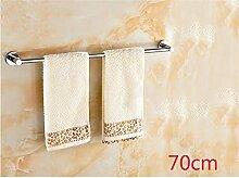 CH Alle Kupfer Verdickung Bad Handtuchhalter Einzel Handtuch hängen Bad-Accessoires Badezimmer Regal Badezimmer Handtuchhalter ( größe : 70cm )