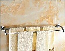CH Badezimmer Bad-Accessoires Handtuchhalter Handtuchhalter voller Kupfer Bad Hardware-Zubehör Handtuchstange Doppelstange verlängert Badezimmer Handtuchhalter ( größe : 40 cm )