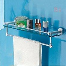 CH Badezimmer Dusche Glasregal Kosmetikregal Einzel Toilette Badezimmer Handtuchhalter Badezimmer Handtuchhalter ( farbe : B3 )
