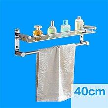 CH Edelstahl-Badezimmer-Regal, Badezimmer Handtuchwärmer, Badezimmer Storage Rack Badezimmer Handtuchhalter ( farbe : 1# )