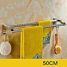 CH Edelstahl-Handtuch-Doppelstab, Badezimmer-Tuch-Zahnstange, Badezimmer-Tuch-Zahnstange Badezimmer Handtuchhalter ( farbe : 3# )