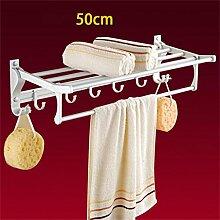 CH Handtuchhalter, Handtuchhalter Raum Aluminium, Badezimmer Folding Handtuchhalter, Bad-Accessoires Badezimmer Handtuchhalter ( farbe : 5# )