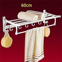 CH Handtuchhalter, Handtuchhalter Raum Aluminium, Badezimmer Folding Handtuchhalter, Bad-Accessoires Badezimmer Handtuchhalter ( farbe : 6# )