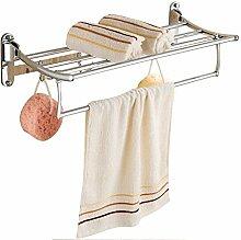 CH Hardware Zubehör für das Badezimmer, Badezimmer Handtuchhalter, Edelstahl Folding Handtuchwärmer Badezimmer Handtuchhalter ( farbe : 1# , größe : 60 )