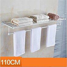 CH Raum Aluminium Handtuchhalter Bad Handtuchhalter Badezimmer Regal Bad Hardware-Zubehör verlängert Badezimmer Handtuchhalter ( größe : 110cm )