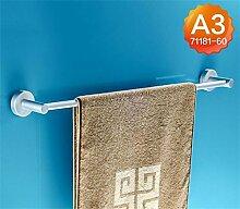CH Raum Aluminium Handtuchhalter einzige Stange verlängert Bad Handtuchhalter Bad Handtuchhalter Bad Anhänger Stangen hängen Badezimmer Handtuchhalter ( Farbe : 3#60CM )