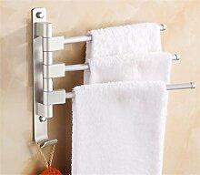 CH Rotierende Bad-Accessoires / Raum Aluminium-Metall-Anhänger / Aktivitäten Handtuchhalter / Badetuch bar Badezimmer Handtuchhalter ( Farbe : 2# )