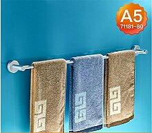 CH Verlängerte Raum Aluminium Bad Handtuchhalter Handtuchhalter Bad-Accessoires Bad Handtuchhalter einpoligen Single Badezimmer Handtuchhalter ( farbe : A5 , größe : 80cm )