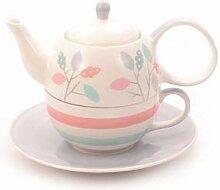 Cha Cult Tea-for-one-Set Dahlia Keramik, 4-teilig