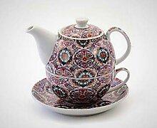 Cha Cult Tea for one Set Helma Porzellan, 4 teilig