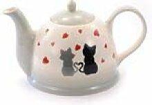 Cha Cult Teekanne Colette 1,5l Keramik Katze