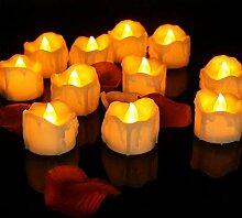 CHAGANA 12er Set LED Kerzen Batterie Flammenlose