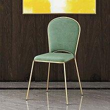 Chair Stuhl Stoff Esszimmer mit Metallbeinen,