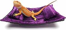 Chaise Lounge für Bartdrachen, violetter Sawgras